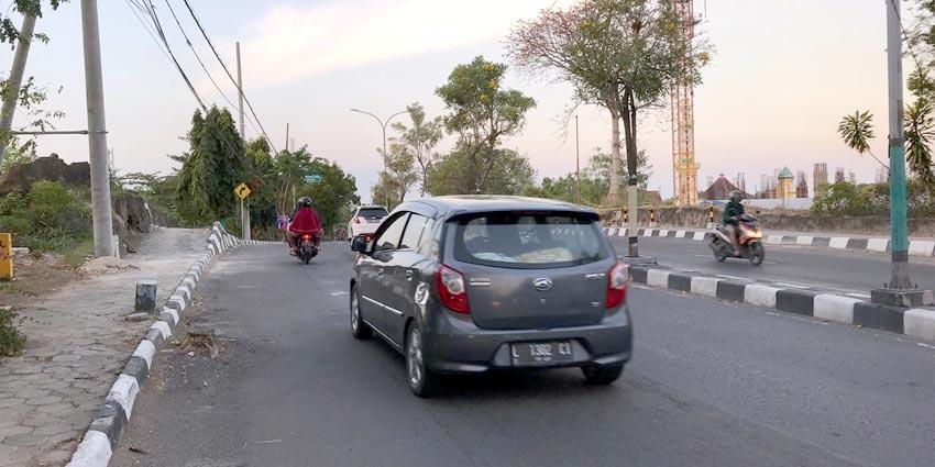 BANGUN UNDERPASS : Jalan Wahidin Sudirohusodo Kabupaten Gresik yang rencananya akan dibangun jalan underpass